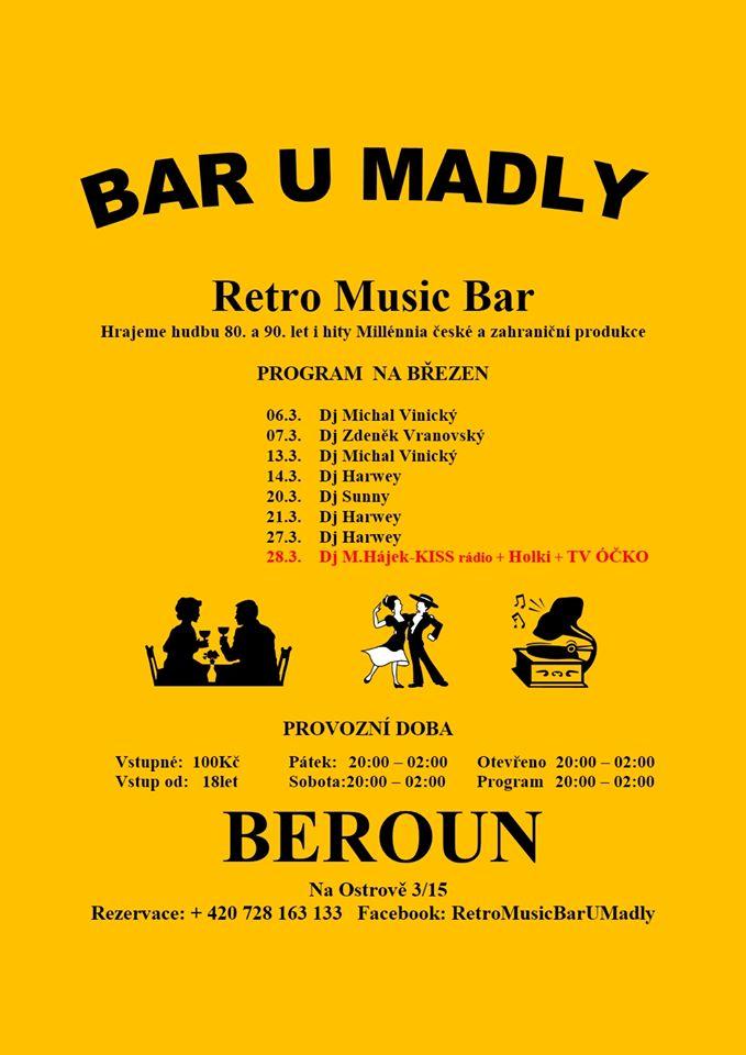 """Beroun - březen 2020  Retro Club """"U Madly"""""""