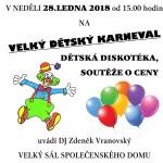 Neratovice tradiční Maškarní karneval  28.1.2018