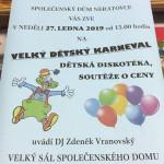 Neratovice tradiční Maškarní karneval 27.1.2019