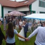 Klášter Hradiště nad Jiz. SvatebnÍ party EV sound 15.7.2017