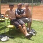 S fotbalisty FC HK P.Černým a J.Lindrem-tenisový turnaj 4.6.Hr.Králové
