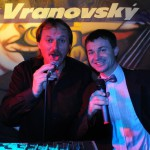 S moderátorem Plesu města Mladá Boleslav, kamarádem Oldou Burdou 7.1.2012