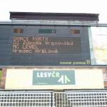 MC Level reklama na Všesport.stadionu Hradec Králové Malšovice-Gambrinus liga