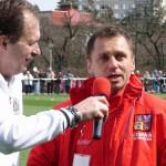 S kamarádem od reprezentační '16' bývalým hr.fotbalistou Ivem Ulrichem 10.4.2012 před zápasem s Norskem