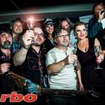 Křest nového CD Turba-Dalibor Janda, Leona Machálková a v pozadí klobouk-Martina Jandová