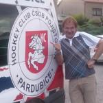 Už od roku 2000 moderuji a uvádím Dancepárty v rámci tenisového mistrovství Rieter Cup…..tentokrát přijeli i Mistři ligy 2011/2012…4.7.2012