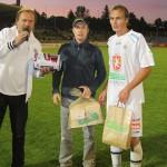 S partnerem zápasu a nej hráčem Pavlem Dvořákem /HK-Liberec 30.9.2012/