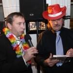 Moderace 'Havaj Party' FC Hradec Králové s gen. Řed. R.Juklem 12.12.2012